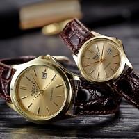 正品男士手表可定制logo 真皮皮带女士腕表超薄石英金表