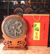 普洱工艺品 工艺茶雕 超大号带框福字/茶马龙凤呈祥 带礼盒