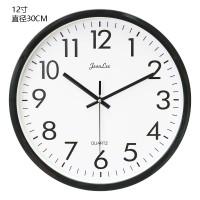 静音钟表挂钟客厅现代办公创意简约时钟挂表墙钟卧室壁钟石英钟表