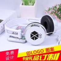 来图定制LOGO耳带式耳机公司展会创意实用小礼品周边exo