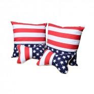 定做  国旗抱枕四件套空调被 多功能抱枕 家居送礼