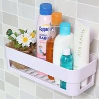 厨房置物架 洗手间吸盘沥水架 浴室厨房多功能置物架定制促销LOGO