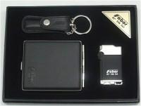 商务套装 指甲刀钥匙扣+两用打火机 可印LOGO