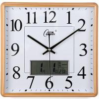 康巴丝日历客厅挂钟表简约卧室石英钟静音现代大号挂表万年历时钟