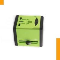 590彩色全球通万能旅行转换插头双USB接口,多国使用的转换插座