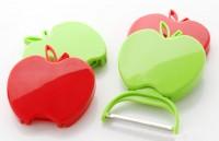 厂家直销 可折叠苹果型水果削皮器 瓜果刨 果皮刀 折叠水果刀logo