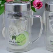 厂家直销双层玻璃杯创意水杯杯子杯广告杯定做礼品杯茶杯定制logo