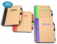 记事本厂家定制 带笔环保笔记本记事薄 牛皮再生纸彩边仿皮记事本印刷