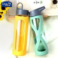 乐扣乐扣水杯耐热玻璃杯便携随手杯子男女茶杯带盖运动水壶