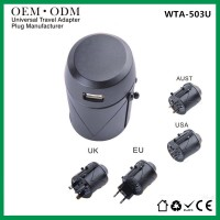 定做插座印LOGOusb多功能转换插头 万能插头旅行转接插头