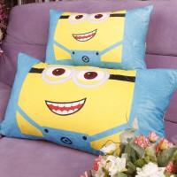 小黄人腰枕头抱枕靠垫客厅沙发靠背靠枕可绣广告LOGO印字礼品批发