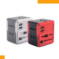 双USB2A/1A新生代 全球通双USB转换插座A6  礼品定制