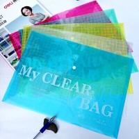 A4方格塑料文件袋 钮扣袋 按扣袋 资料袋 来图定制加印logo广告字