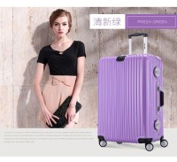 明星同款银座铝框拉杆箱万向轮旅行箱包男20寸24女行李箱登机箱子