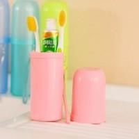 旅行必备  洗漱杯毛巾收纳牙刷杯 时尚糖果色大容量多功能牙刷盒