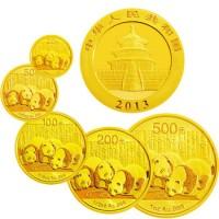 熊猫金币2013年套装 5枚装 熊猫纪念币套装纪念币收藏品