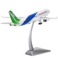 商飞C919国产大飞机模型合金民航客机仿真成品摆件商务礼品