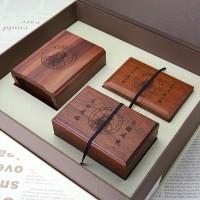 礼品定制红木酸枝木笔筒名片盒镇纸套装办公用品桌面摆件实木刻字