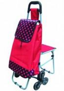 带凳购物车 老人买菜车带座位 三轮可爬楼折叠拉杆车批发