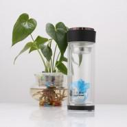 批发双层透明玻璃杯 高档水晶玻璃保温杯 广告玻璃水杯子