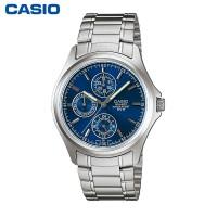 卡西欧MTP-1246D-1A 时尚优雅情侣石英手表防水钢带男士手表