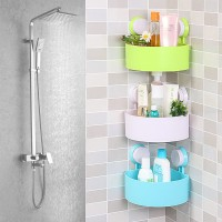 吸盘置物架 多功能浴室置物架 洗手间三角卫浴置物架促销LOGO定制