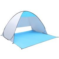 可定制印字logo沙滩帐篷户外休闲自动速开折叠遮阳双人钓鱼简易