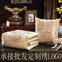 抱枕被子两用 车用靠垫被办公室空调被沙发靠枕头批发定制绣logo