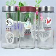 透明带盖过滤泡花创意办公水杯 随手杯茶杯玻璃杯 可批发印制logo