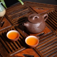 富光  宜兴紫砂茶壶全手工 紫砂壶石瓢壶 原矿老紫泥茶壶