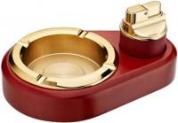 直冲打火机礼品套装 高档礼盒组合创意烟灰缸 商务礼品 可印logo
