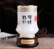 琉璃笔筒办公室摆件 厚德载物实用装饰品摆设创意 商务礼品定制