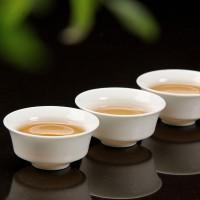 套装高白玉瓷单杯盖碗 礼品定制LOGO定制