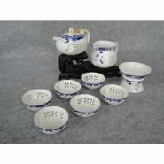 玲珑紫砂茶具10头玲珑青花(茶壶) 会议商务活动礼品