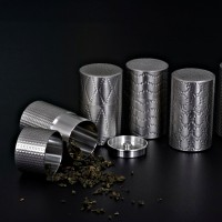定制            多款可选密封罐 矩阵图案高档茶叶罐厂家直销锡罐