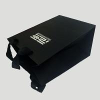 【厂家定制】高档手提袋 精美黑卡纸烫金礼品手提包装袋