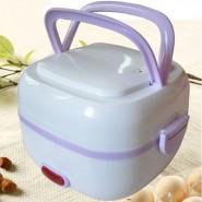 双层不锈钢内胆迷你保温加热便携式多功能蒸煮电热饭盒可印制logo