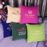 定做直销订做靠背靠垫定制家用抱枕被子两用广告绣字logo印字