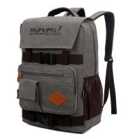 新款超大容量军工品质休闲旅行帆布双肩背包可放笔记本电脑书包