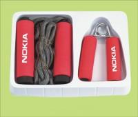 家庭组合套装 小型健身锻炼器材 跳绳 握力器两件套