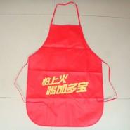 爆款大红80克无纺布印字可印字LOGO广告 围裙厂家定做批发