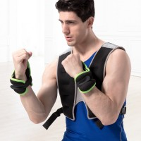 跑步负重装备绑手沙袋薄款隐形沙包绑腿护腕可调运动铁砂拳击绷带