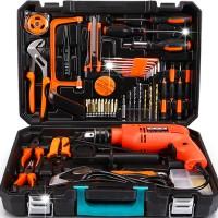 科麦斯五金工具套装 德国家用木工工具箱电工维修组合套装带电钻