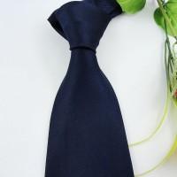 100%桑蚕丝领带色织真丝领带男士领带正装领带藏蓝色领带。