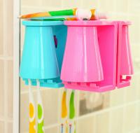 新款磁吸式漱口杯  时尚情侣洗漱套装 牙刷架防垢洗漱杯促销定制
