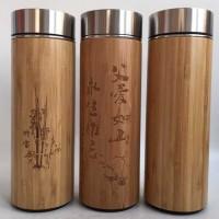 厂家直销不锈钢保温竹壳杯 陶瓷 紫砂竹壳杯 圆筒形手工简约