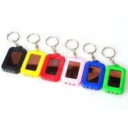 太阳能环保3LED迷你钥匙灯 多功能钥匙扣带太阳能手电筒