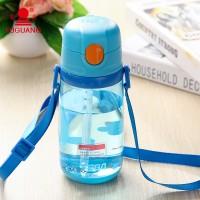 富光防侧漏儿童杯 可爱吸管杯子 可携带绳子外出婴儿杯