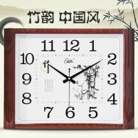 康巴丝20英寸挂钟客厅中式石英钟静音钟表简约时尚挂表田园风时钟