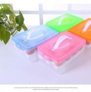 新款便携塑料双层鸡蛋收纳盒 保鲜收纳盒 塑料储物盒 鸡蛋托